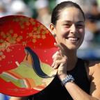 Northwich Guardian: Ana Ivanovic secured her fourth WTA title of the year in Tokyo on Sunday (AP)