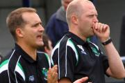 1874 Northwich management team Ian Street, left, and Paul Bowyer