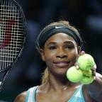 Northwich Guardian: Serena Williams must wait to see whether she reaches the semi-finals of the WTA Finals in Singapore (AP)