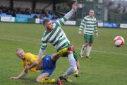 Northwich Victoria in action at Warrington Town on New Year's Day. Pictures by Mike Boden