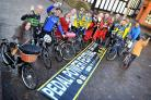 Supporters from Weaver Valley Cycling Club, Winsford Wheelers, North Cheshire Clarion and Northwich, Winsford and Middlewich town councils at the Pedal Power Festival 2015 launch.