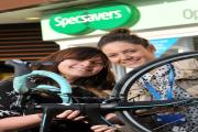 Cyclist Salma Kamaluddin and Melissa Newland, from St Luke's, get ready for Cycletta.