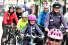 Riders set off for the five-mile ride at last year's event.