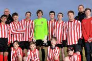 Players from Witton Albion's pan-disability team show off a new strip provided by Compass Fostering. Picture: NICK JONES