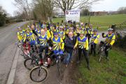 Weaver Valley Cycling Club at their new home with Winnington Park Rugby Club, in Burrows Hill.