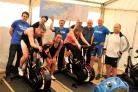 The teams during the Wattbike challenge