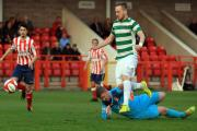 Stuart Cook rolls in Northwich Victoria's opening goal against Witton Albion on Thursday