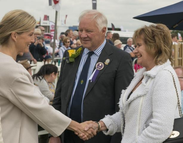 Show chairman Tony Garnett with wife Pamela and Sophie, Countess of Wessex