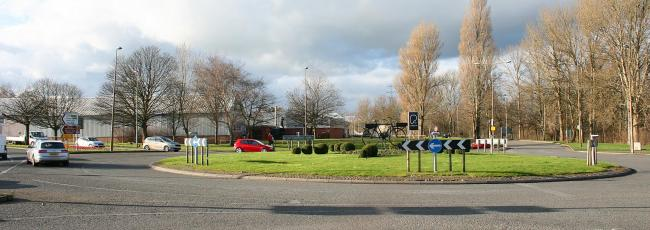 The Chesterway and Station Road roundabout