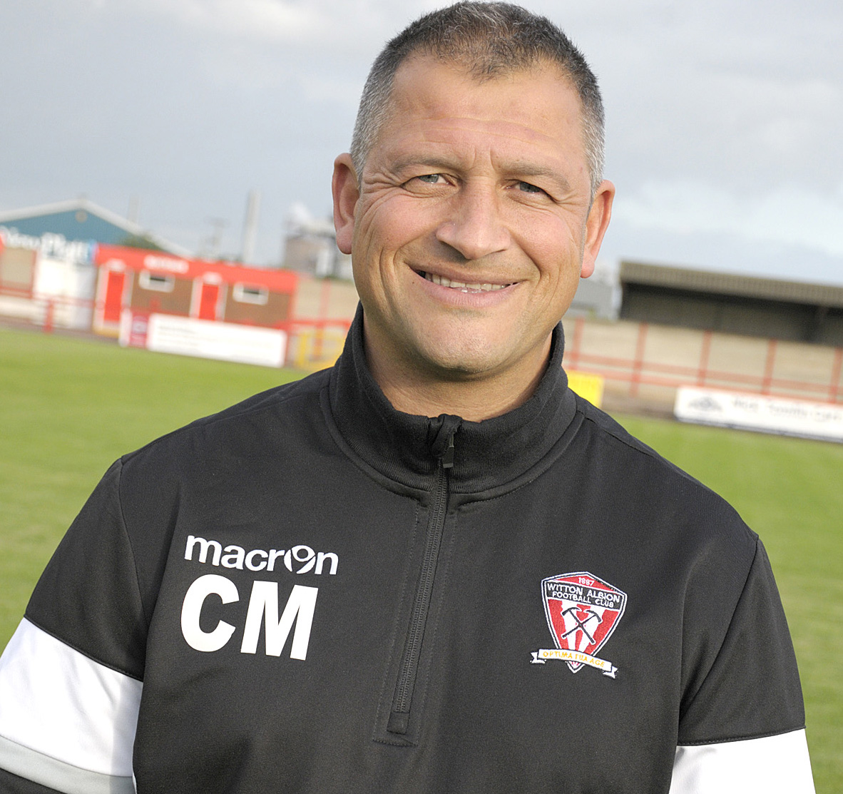 Witton Albion manager Carl Macauley