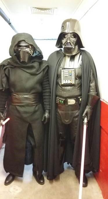 Star Wars villains Kylo Ren and Darth Vader