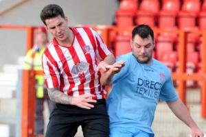 Witton Albion midfielder Paul Williams, left, pictured in action against Lincoln United. Picture: Paul Heaps