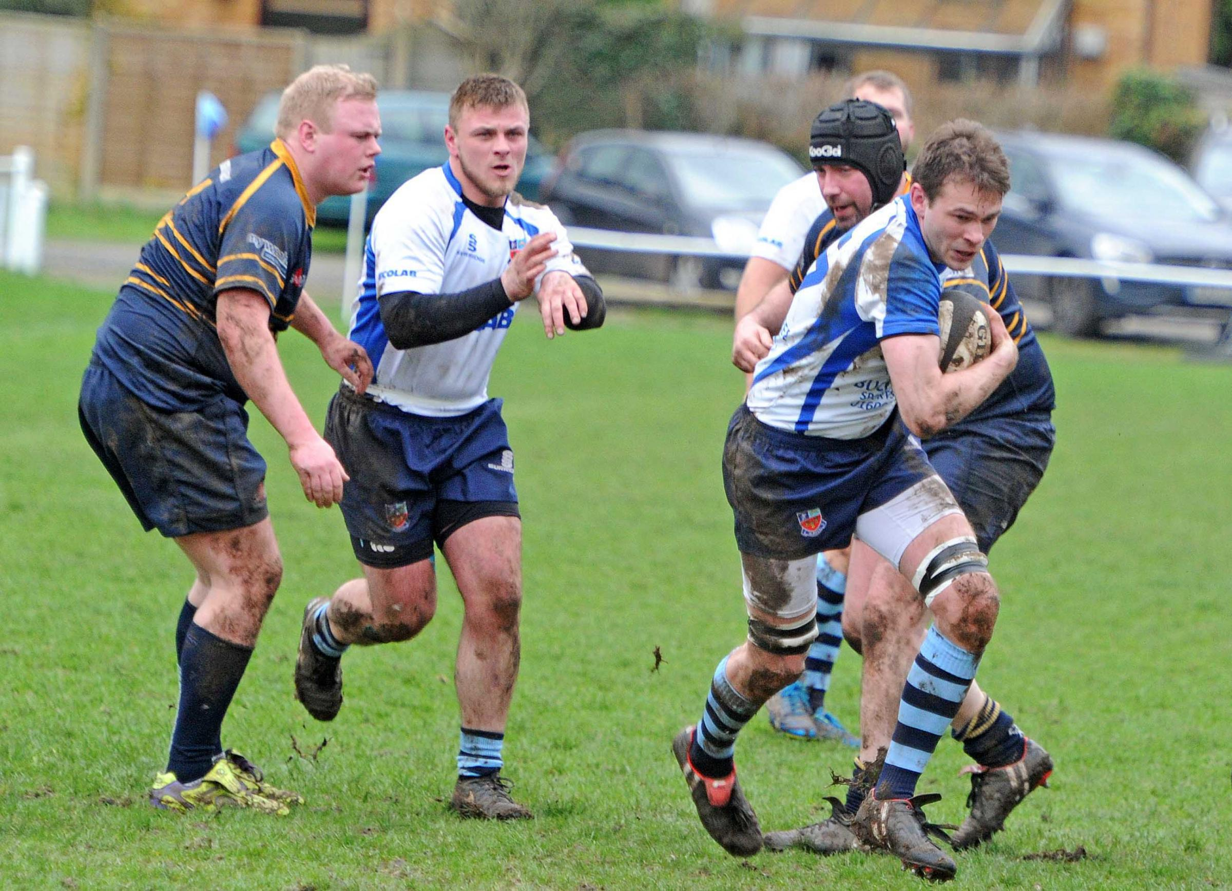 Matthew Treacy, pictured in action last season against Oldershaw, was among Winnington Park's try-scorers when Congleton visited Burrows Hill on Saturday
