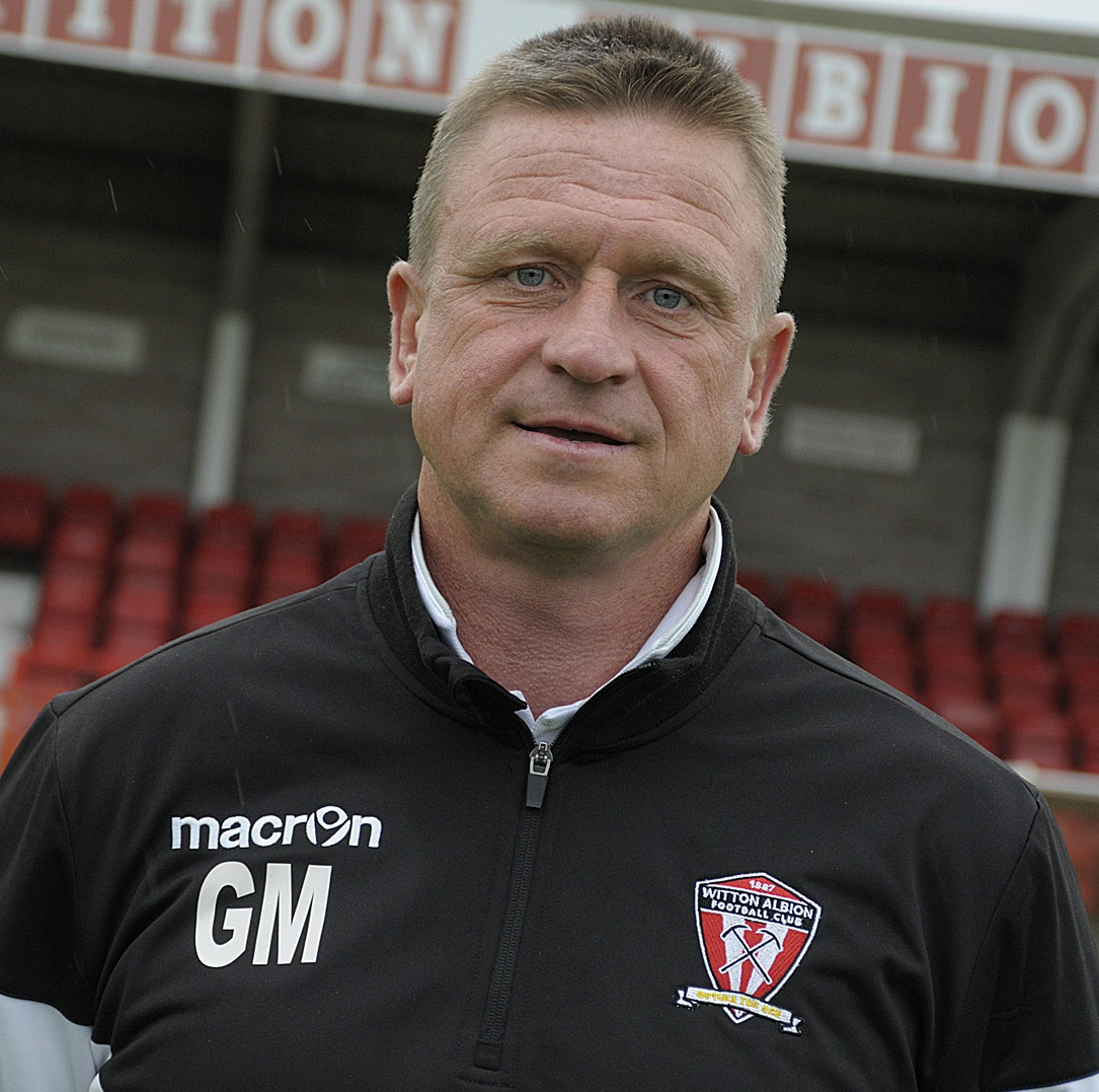 Witton Albion's assistant manager Gary Martindale