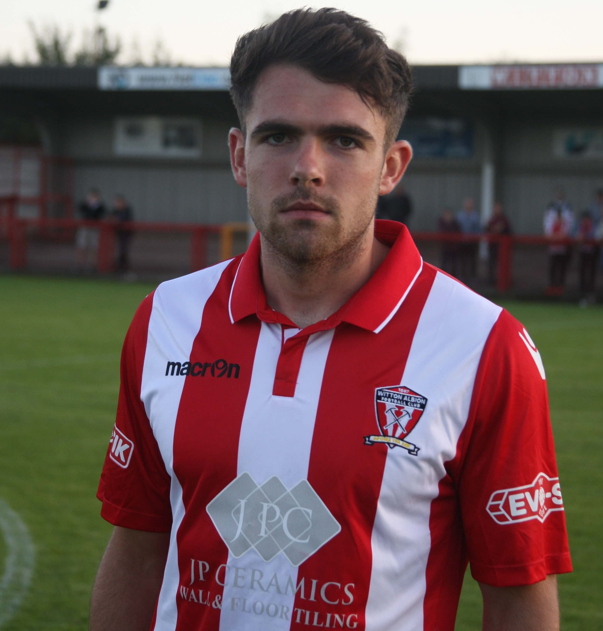 Midfielder Ben Hedley has made eight starts for Witton Albion during a loan stay from League Two side Morecambe. Picture: Keith Clayton