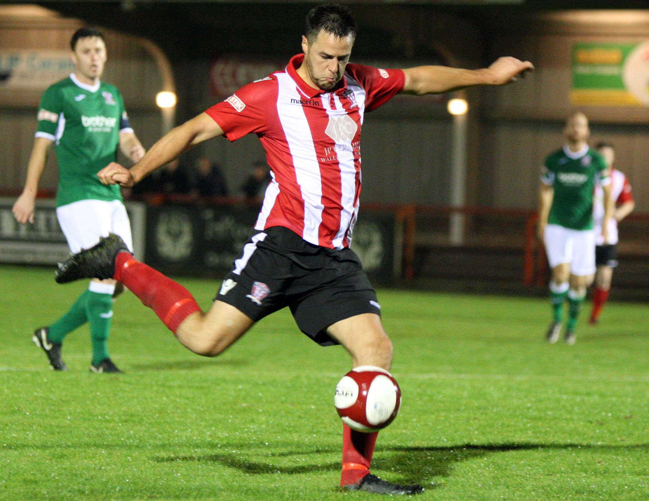 Rob Hopley and his Witton Albion teammates hope to end a goal-drought that has lasted close to five hours when they visit Hednesford Town tomorrow