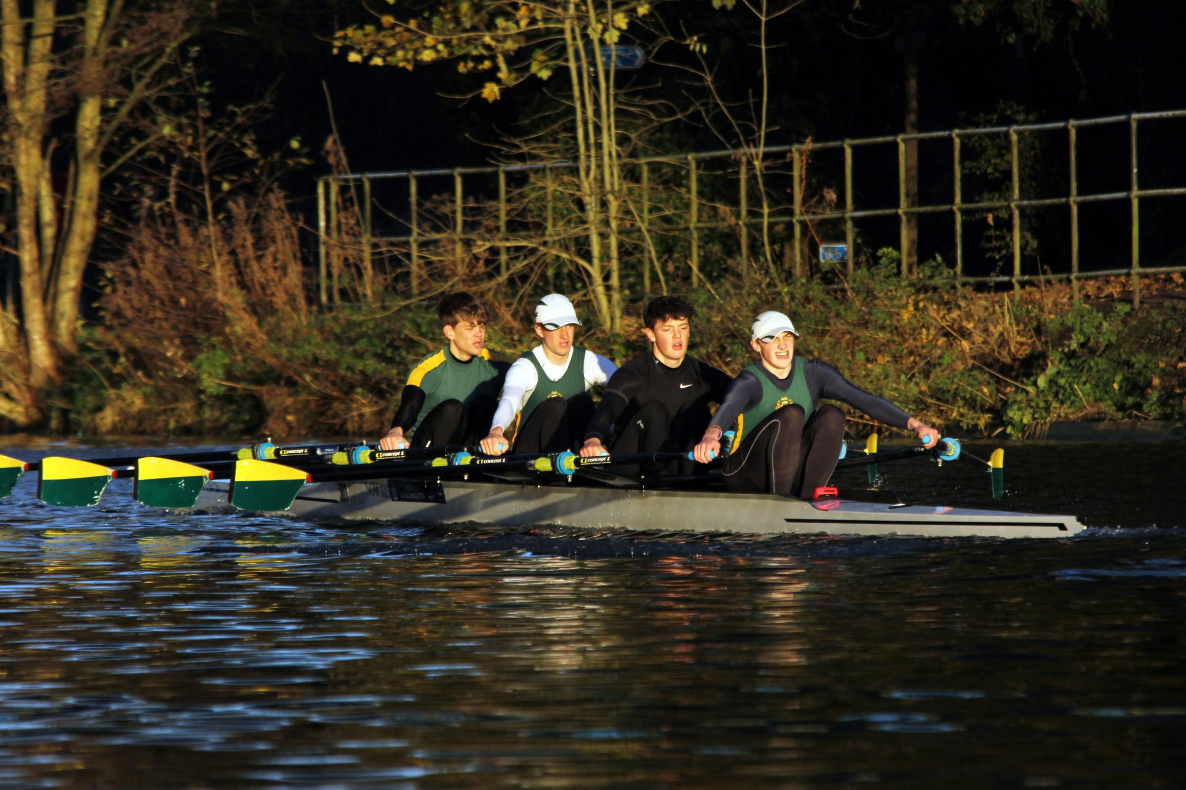 An under 17s boys' quad scull from Northwich Rowing Club was the fastest on the River Weaver at last weekend's Autumn Head. Picture: Rachel Hooper