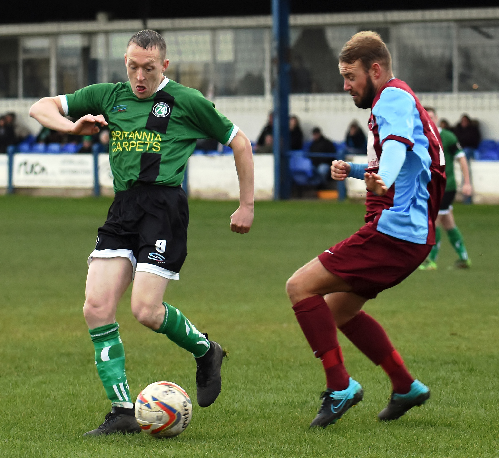 Scott McGowan was 1874 Northwich's match-winner against West Didsbury & Chorlton in the North West Counties League on Saturday. Picture: Ian Dutton