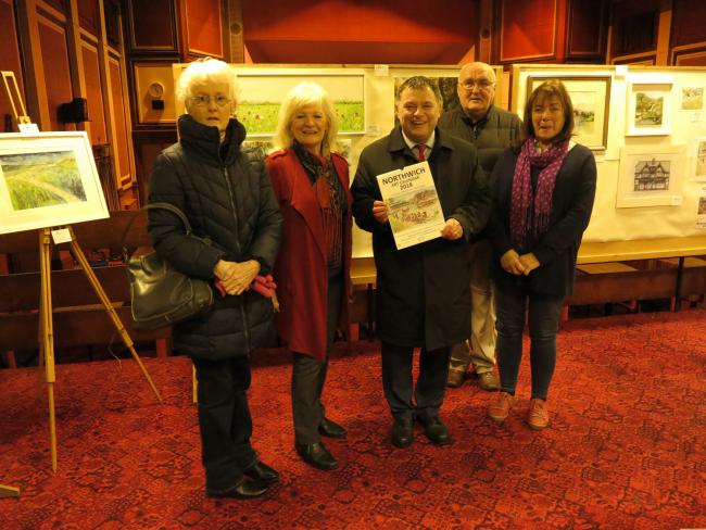 From left, Jill Stephens, Bernice Tackley, Mike Amesbury MP, Ron Stephens and Carol Dooley