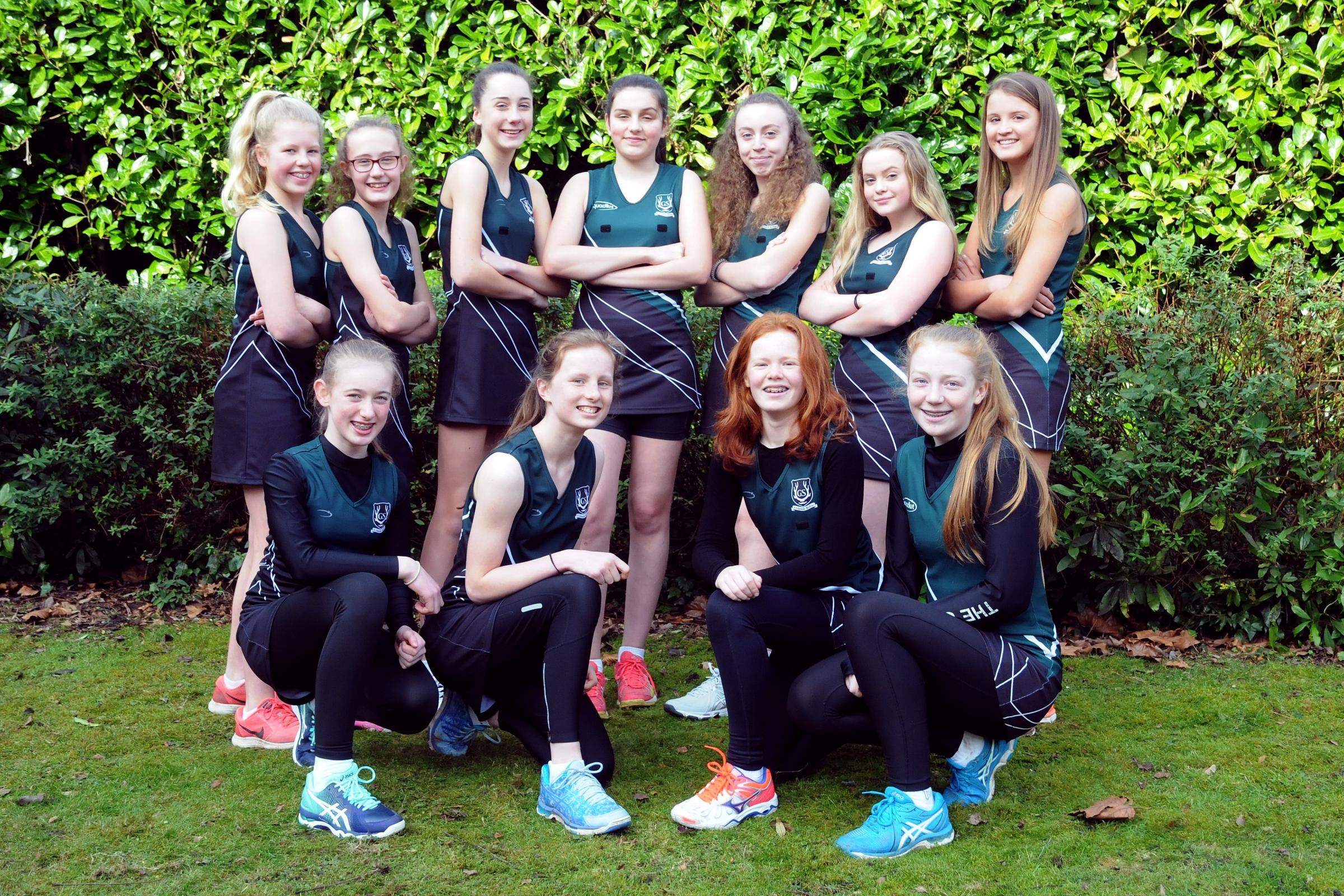 Grange School's under 14s girls' netball team have qualified for the English Schools' National Finals in Hertfordshire next month. Picture: Dave Gillespie