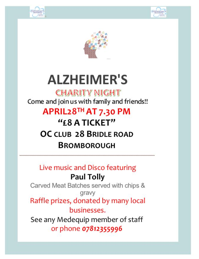 Alzhimers Charity night