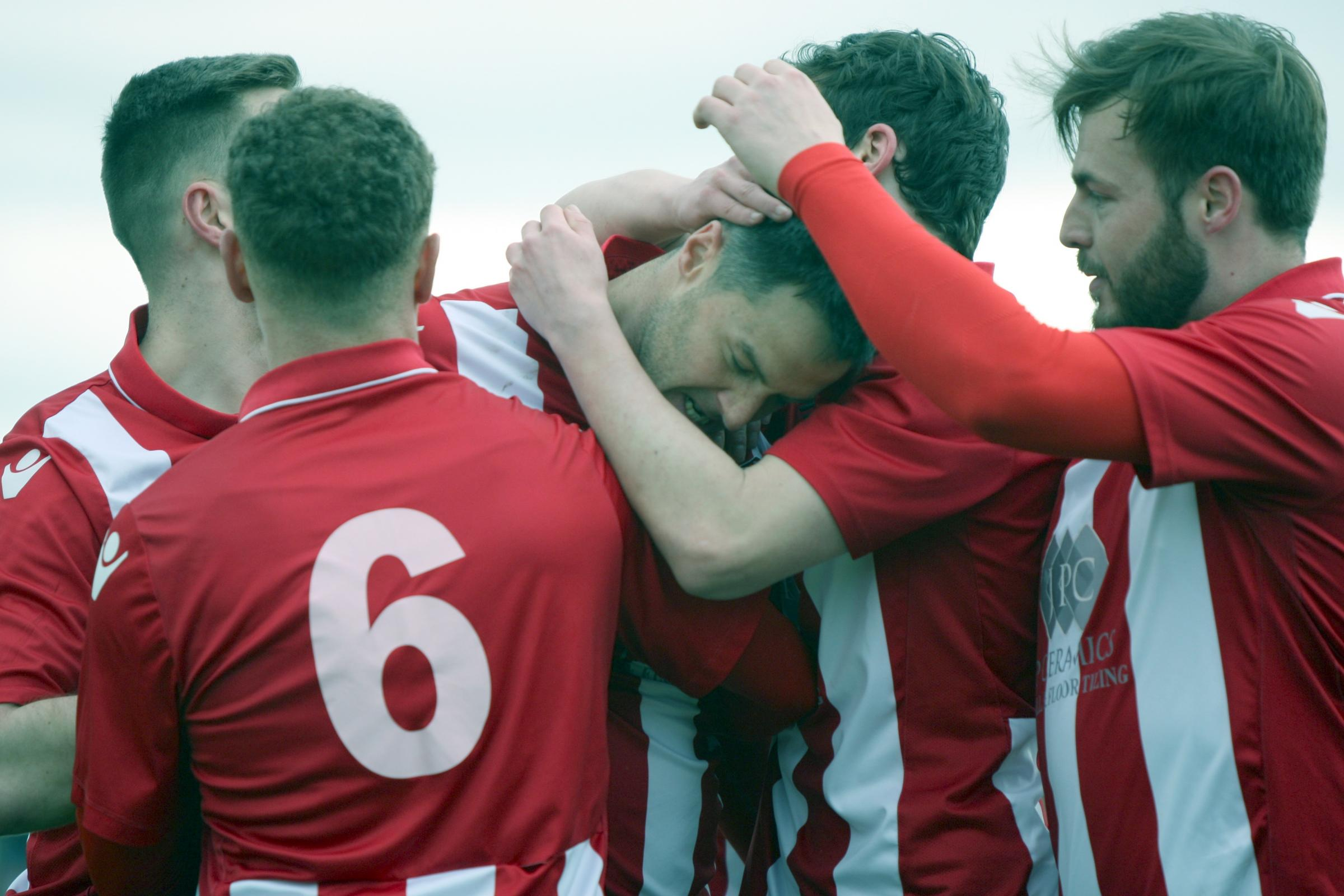 Rob Hopley and his Witton Albion teammates will be tested on the season's opening day when they head to promoted South Shields. Picture: Keith Clayton