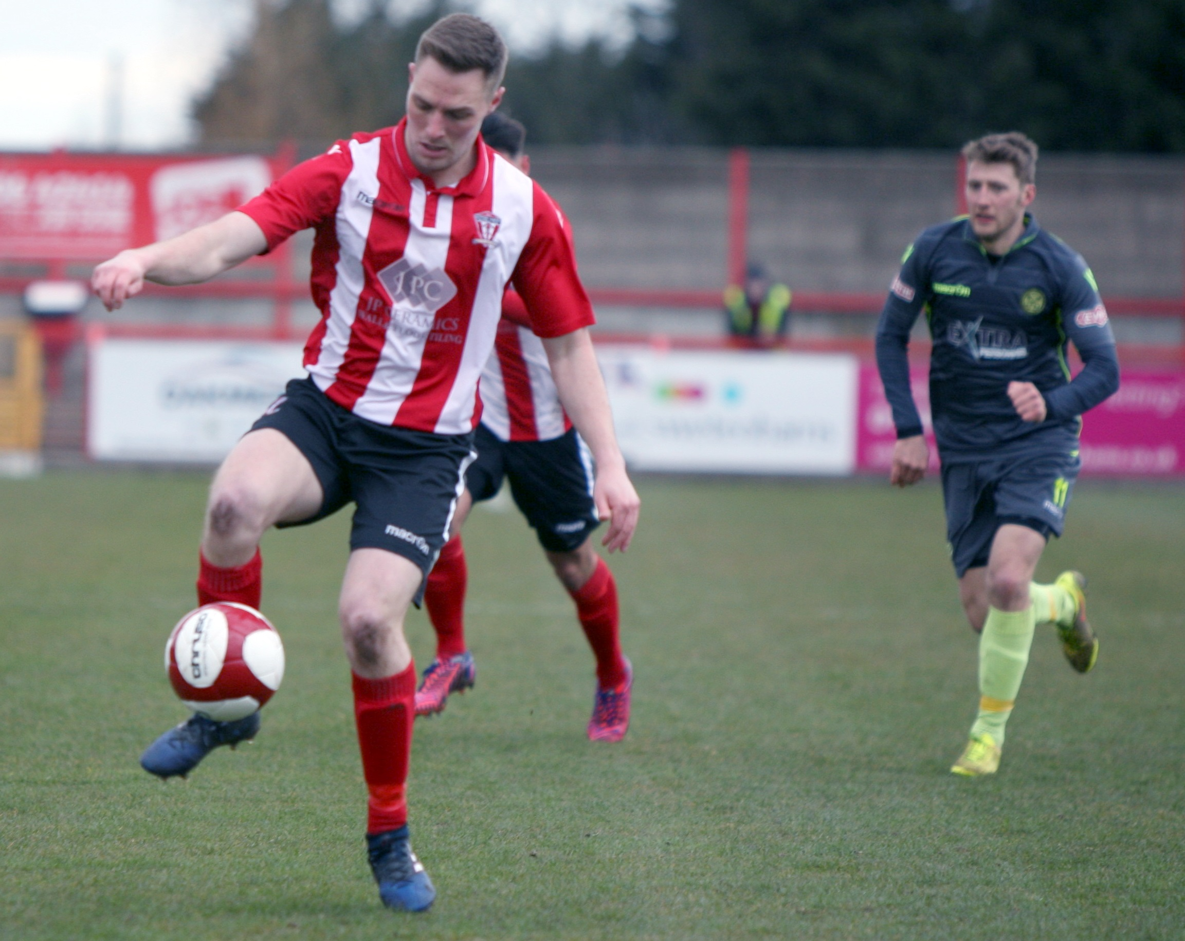 Steven Tames was on target for Witton Albion from the penalty spot during a 2-1 defeat at home to Stafford Rangers in the Northern Premier League on Saturday