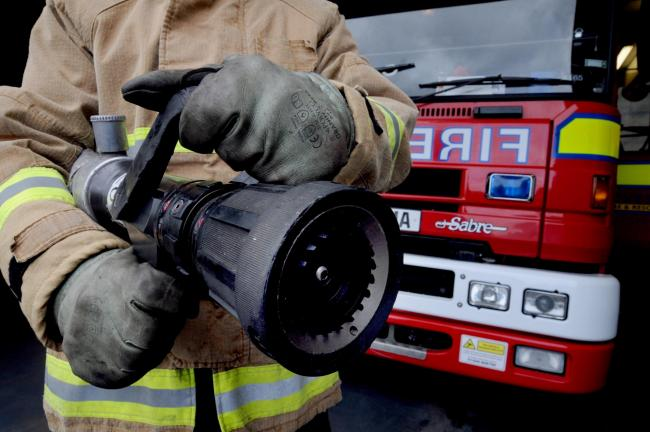 Crews tackle early morning van fire in Sandbach
