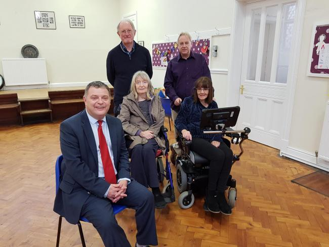 From left: Mike Amesbury MP with Richard and Kath Webb, and Andy and Karen Wade