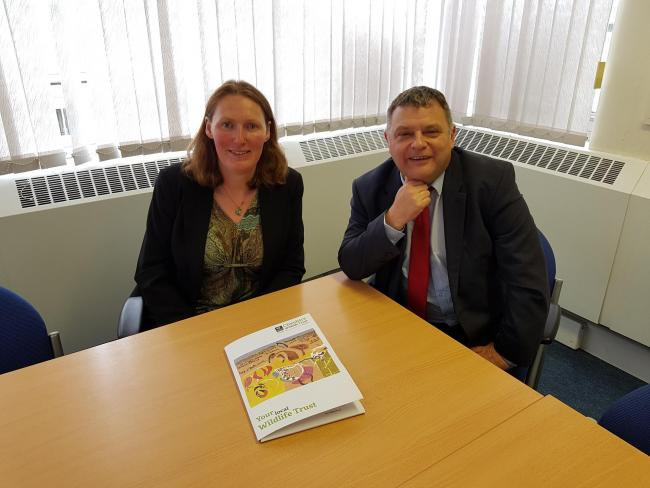 Charlotte Harris, CWT CEO, and Mike Amesbury, MP for Weaver Vale