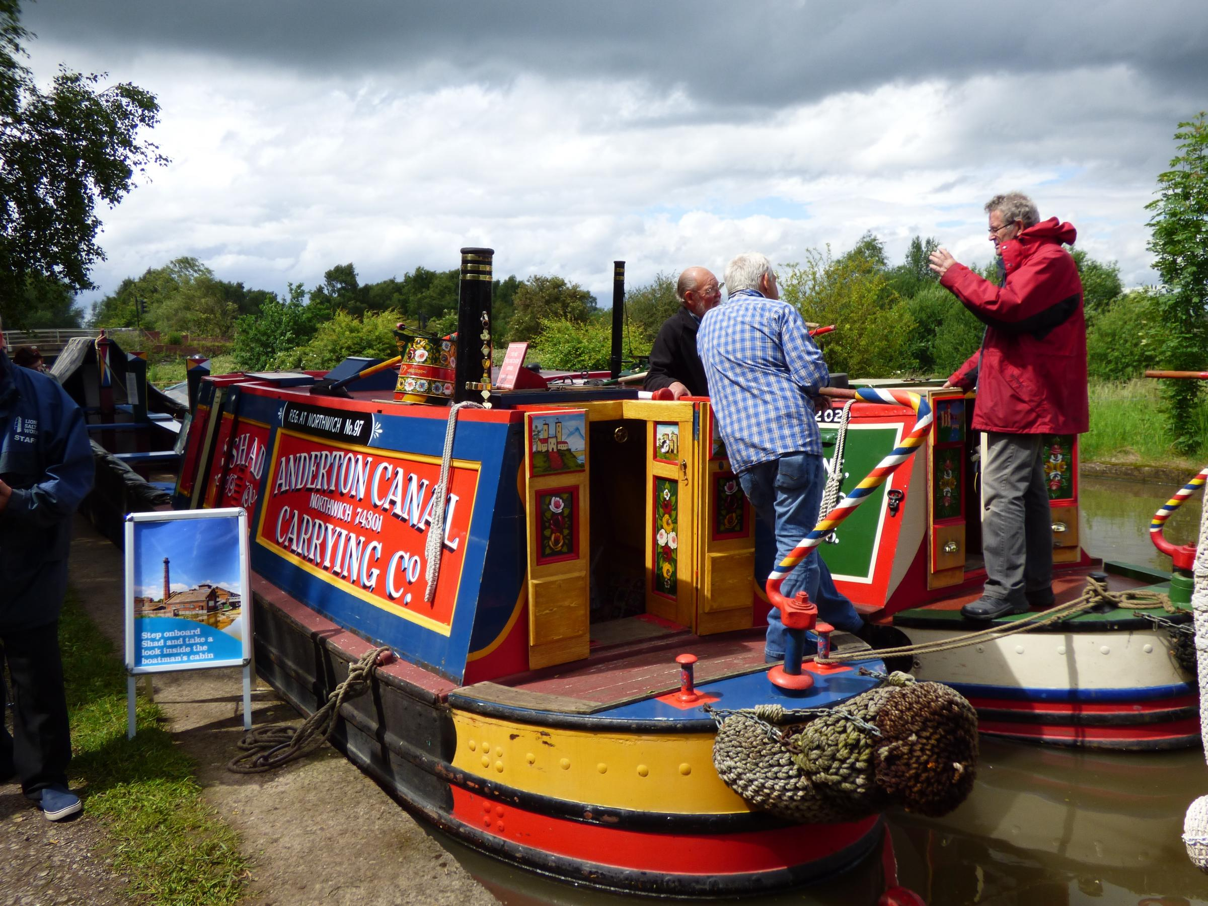 'Shad', an historic narrowboat built at Yarwoods in Northwich