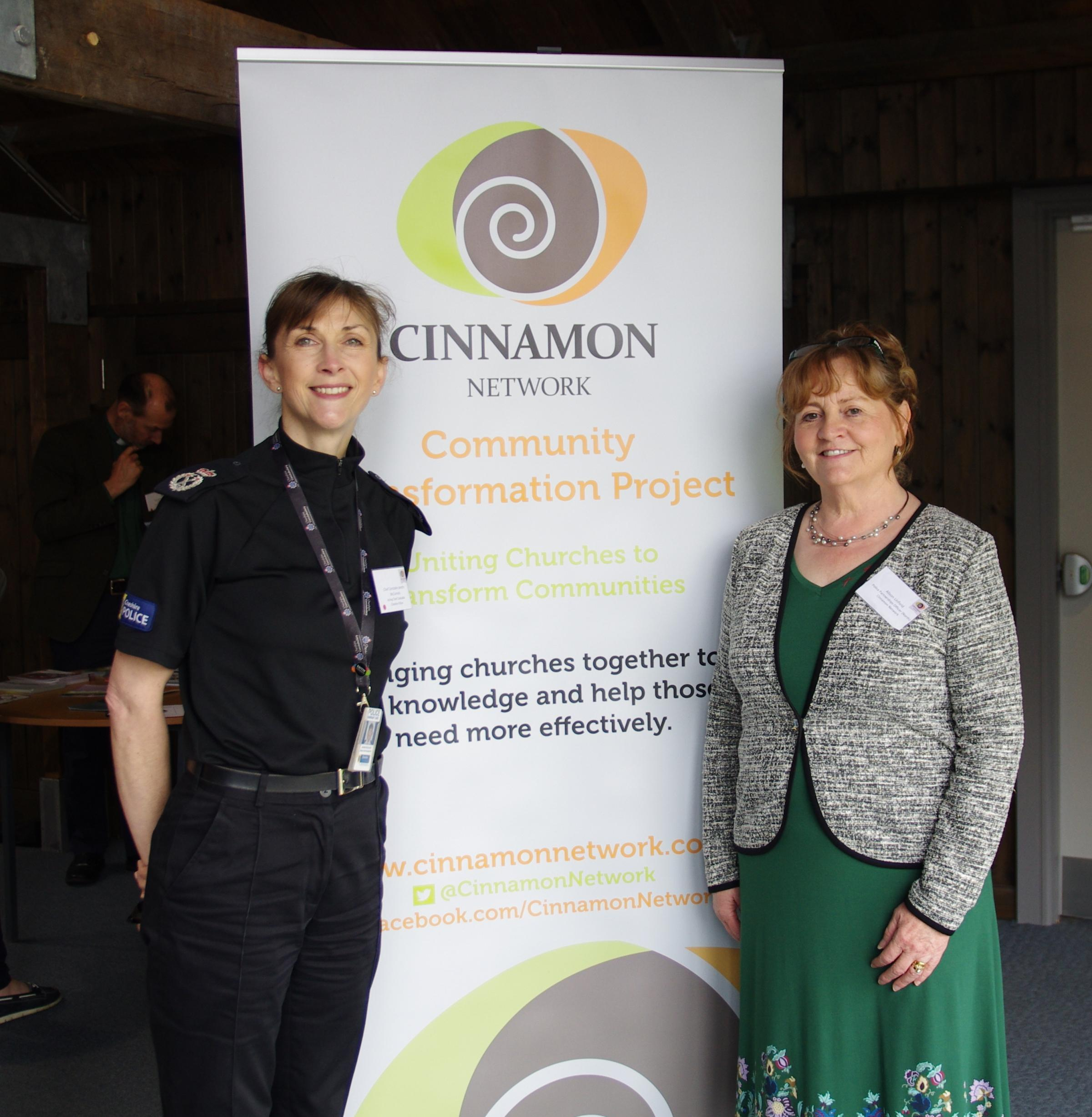 Acting chief constable for Cheshire Janette McCormick with Cinnamon's Alison Linfield at the launch