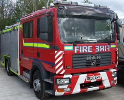 Fire crew puts out garden fire in Northwich