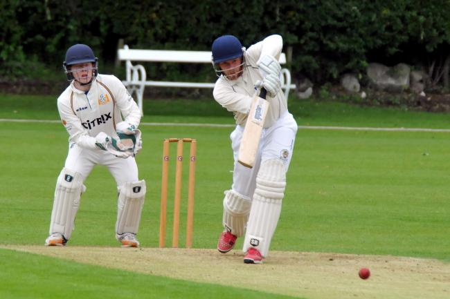 Sam Hunt was at the crease for Davenham when they reached their victory target in a Cheshire County League fixture at Oxton last weekend