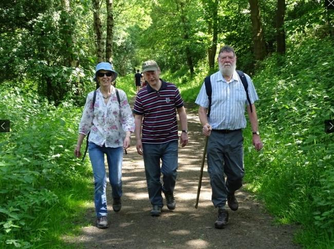 Ramblers enjoy a countryside walk. Picture courtesy of Dave Capper