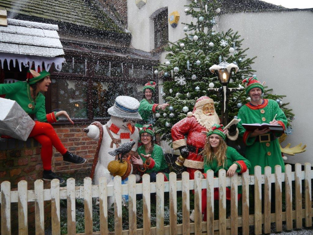 CAFT elves at Santa's festival farm grotto