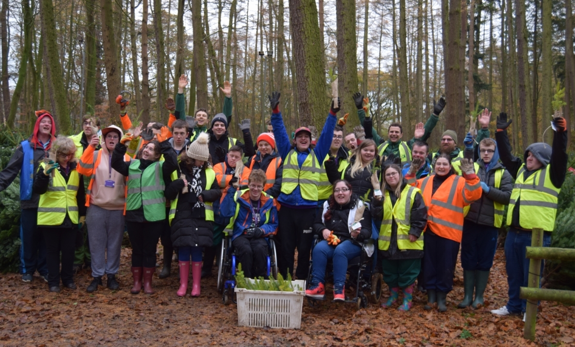 Petty Pool students with Forestry Commission staff at Delamere Forest