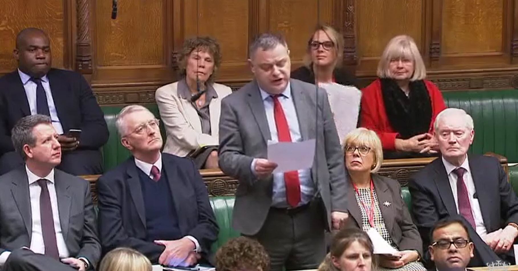 Mike Amesbury MP speaking in the Commons