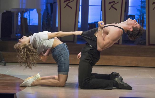 Kira Malou (Baby) Michael O'Reilly (Johnny) in Dirty Dancing - The Classic Story on Stage (Picture: Alastair Muir)