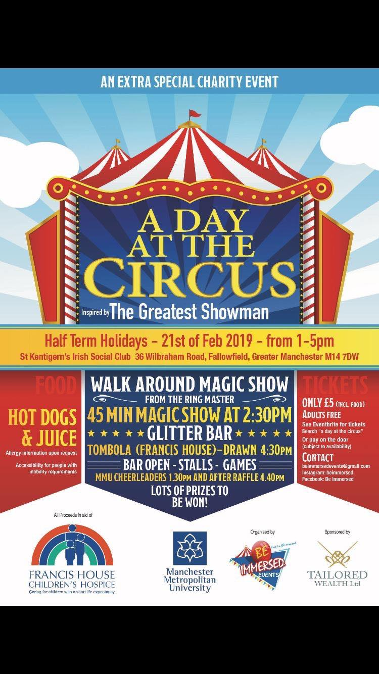 A Day At The Circus (In aid of Francis House)