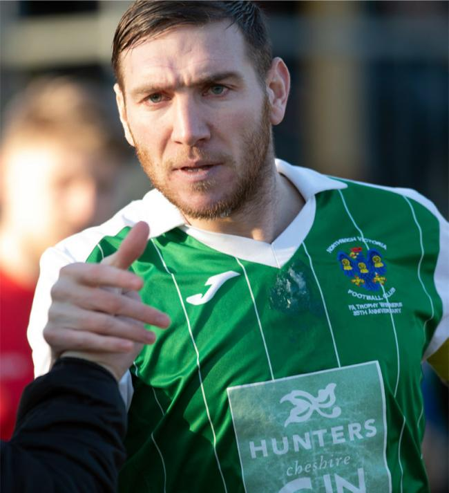 Brad Cooke, Northwich Victoria's captain, has told the Guardian how his teammates now have faith in their ability to prevail on big one-off occasions after reaching the FA Vase last eight. Picture: Samantha Hopkin