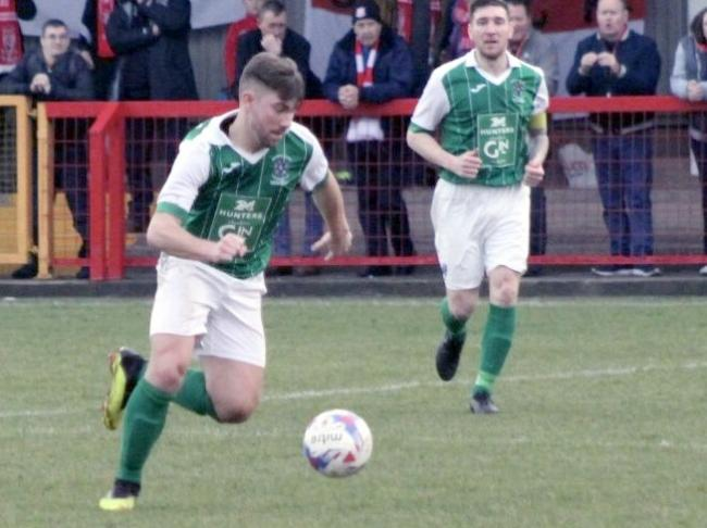 Ryan Winder was Northwich Victoria's stand-out performer on his debut after completing a transfer from Northern Premier League Premier Division club Lancaster City. Picture: Ian Egerton