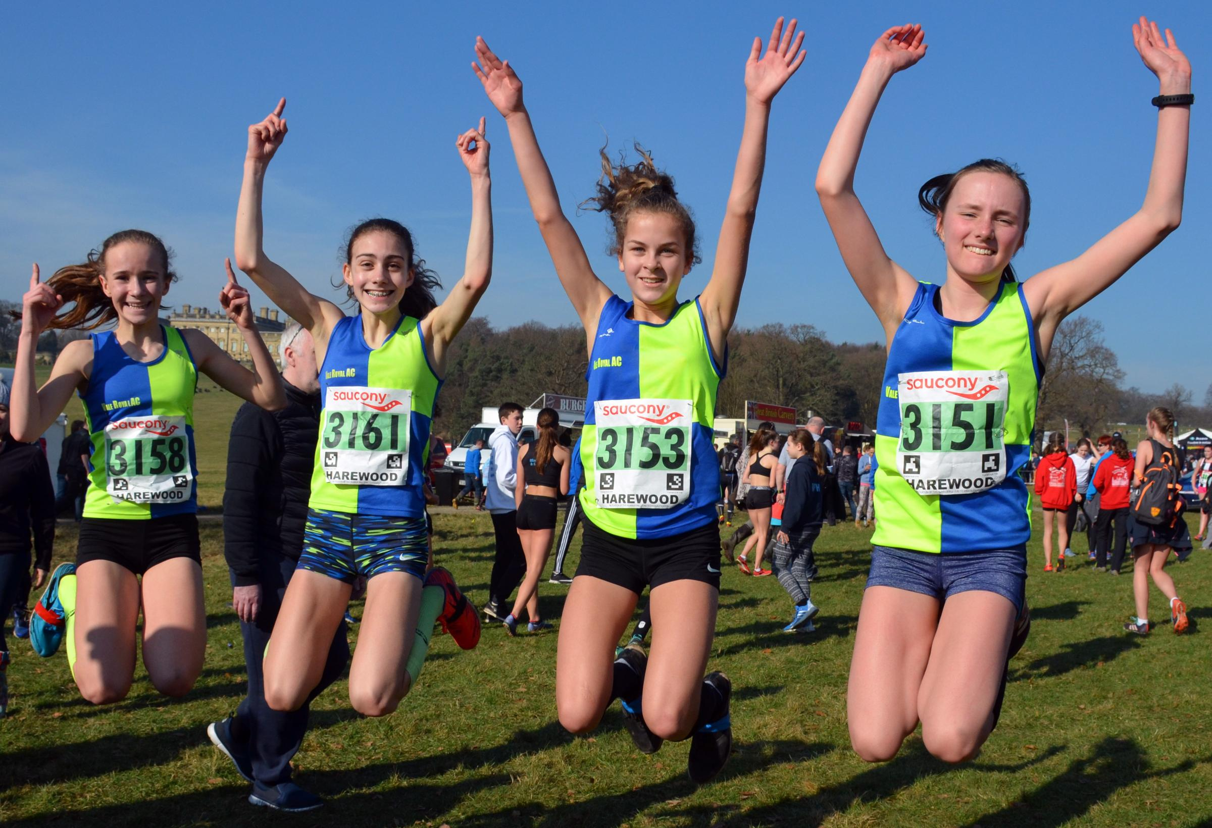 Vale Royal Athletics Club's under 15s girls' team, including Holly Weedall second from left, impressed at the English National Cross Country Championships. Picture: Dave Woodhead/woodentops.org.uk