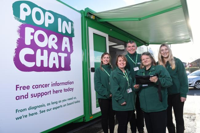 Macmillan cancer support bus will be at Tesco Northwich on June 20