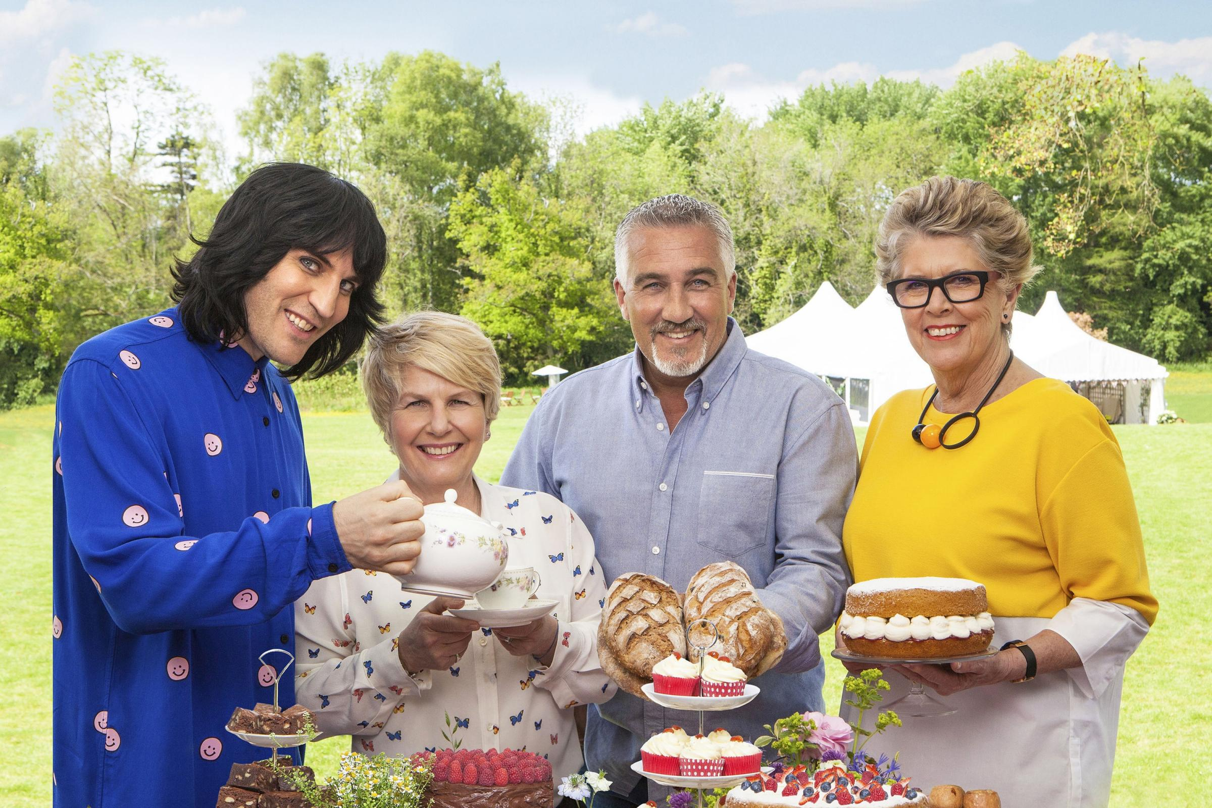 The judges and presenters of The Great British Bake Off