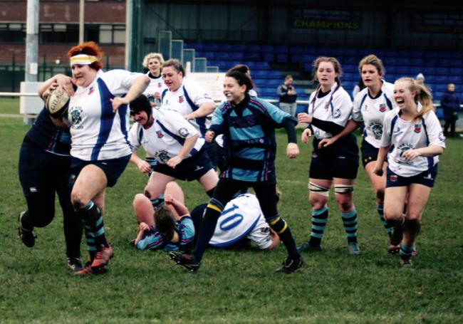 Captain Thea Breau led by example, scoring two tries, when Winnington Park Ladies returned to RFU Women's National Challenge duty with an impressive win at Liverpool Collegiate. Picture: John Pickering
