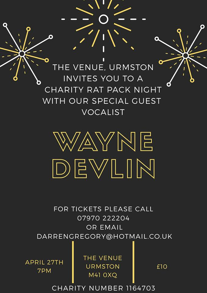Charity Rat pack Evening with special guest Wayne Devlin