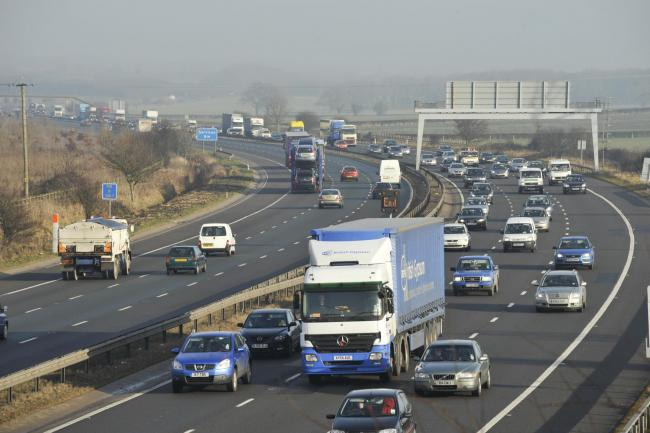 Slow traffic as accident blocks M56 near Northwich