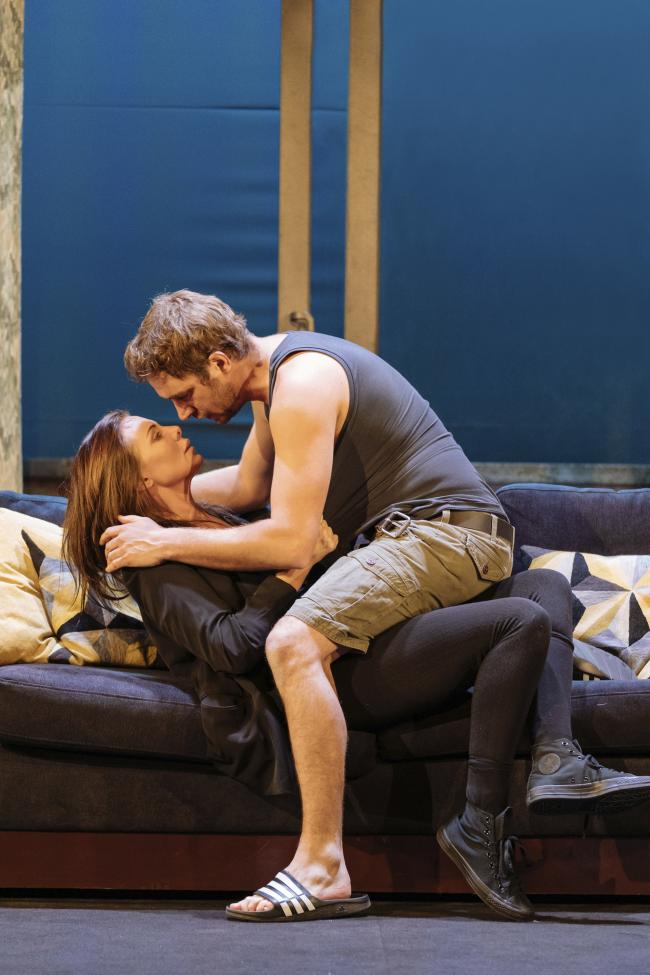 Samantha Warnock as Rachel and Oliver Farnworth as Scott. Picture: Manuel Harlan