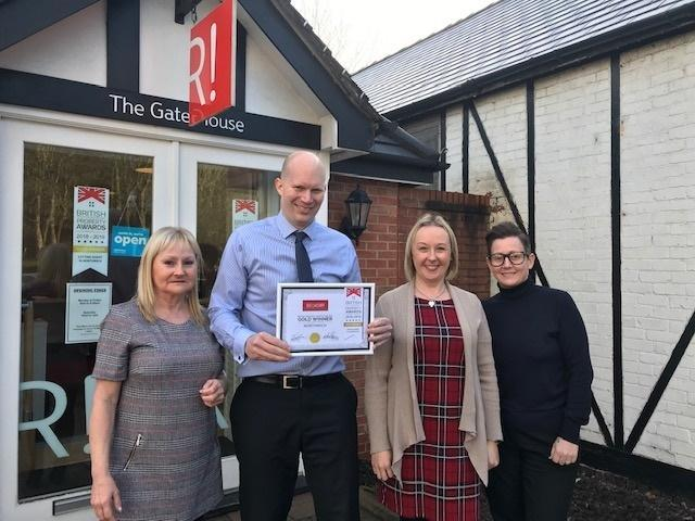 The Belvoir Northwich team with their first award in January
